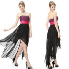 Ladies Strapless High Low Evening Cocktail Party Prom Dresses 06132 Size 6-14