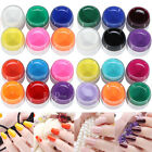 Nail Art 6 Colors Pure Solid Builder UV Gel Tips Shiny Cover Extension Manicure