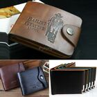 New Retro Men's Cowboy Leather Bifold Wallet Multi Pocket Credit Card Purse 35DI