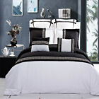Luxury Black & White Embroidered Design Duvet Cover Set