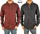 Mens Humor Jeans Shirt Long Sleeve In 2 Colours Smart Casual Overshirt Top