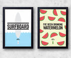 "Beyonce ""Drunk In Love"" Poster Set! Watermelon and Surfboard prints!Jay-Z, Kanye"