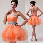 Layer Wave Quinceanera Prom Ball Gown Cocktail Party Evening Princess Mini Dress