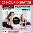 NEW NON SLIP EXERCISE YOGA MAT PILATES HOME GYM 10MM THICK PHYSIO FITNESS NBR