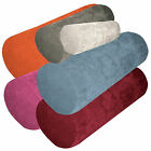 ma+6 Plain Colors Bolster Case Velvet Style Fabric Yoga Neck Roll Custom Size