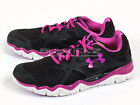 Under Armour UA Wmns Micro G Monza Sports Running Black/White/Purple 1238600-002