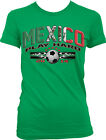 Mexico Play Hard World Cup 2014 Mexican Soccer Ball Flag Girls Junior T-Shirt