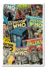 Doctor Who Comic Montage Framed Cork Pin Memo Board With Pins