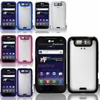 For LG Connect 4G MS840/Viper 4G LS840 PC + TPU Gel Skin Case Cover
