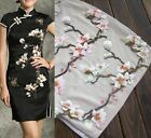 Lady Embroidered Pink or White Plum Blossom Flower Patch iron or sewing Applique