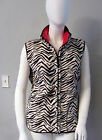 NWT ONQUE REVERSIBLE ZEBRA VEST 2X  3X OUTERWEAR Zebra one side Red other side