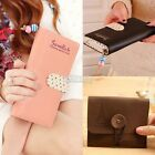 New Womens Fashion Clutch zip Leather Long Handbag Lady's Wallet Coin Card Purse