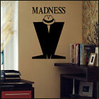 LARGE MADNESS M TRILBY WALL STICKER NEW ART VINYL MATT TRANSFER UK DESPATCH