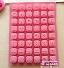 Silicone Letters/Number Cake Chocolate Soap Candy Jelly Ice Mold Mould Pan xj343