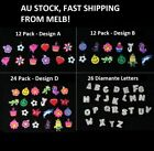 Loom Band Bracelet Charms w Rings Letters Alphabet Beads Craft + S Clips