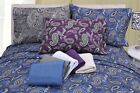 Luxury Paisley OR Plain Pattern 100% Cotton Flannel Pillow Cases [Set Of Two]