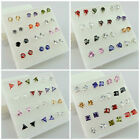 WHOLESALE 5MM-6MM Crystal Beads 925 SILVER PLATED Studs Earrings - TOP QUALITY