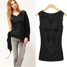 Fashion Lady Sexy Lace Vest Sleeveless Blouse Women Tank Top Shirt Strap