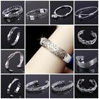 SPECIAL PRICE wholesale Fashion Jewellery s925 Silver Mens Lady Bangle Bracelet