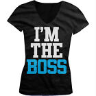 I'm The Boss - Funny Bossy Cocky Confident In Charge Girls Junior V-Neck T-Shirt