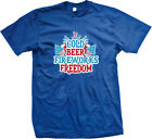 Cold Beer Fireworks Freedom - America 4th Of July Independence Day Mens T-Shirt