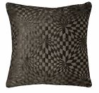 wg01a Dark Brown Geometric 3D Check Cotton Throw Pillow Case Cushion Cover*Size