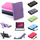 "Stand Leather Case Cover for Android Tablet 7"" 8"" 10"" Universal w/ USB Keyboard"