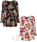 NEW LADIES WOMENS FLORAL PRINT V BACK FLARE SLEEVE SUMMER PLAYSUIT (SIZES 8-14)