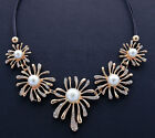 Fashion Elegant Pearl Chrysanthemum Charm Clavicle Necklace