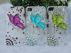 For iPhone 4/4S&iPhone5 Mobile Case Cover Butterfly Diamond 3 Colors SK0335