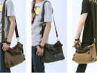 Men's/women's bag Canvas+leather shoulder/Cross body Travel Tote Bookbag School
