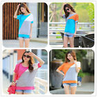 Womens Girls Beach Short Sleeves Casual Cotton Top Soft Style T-Shirt Summer