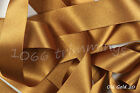 Old Gold 20  Satin Ribbon Double Sided Berisfords Choice Widths & Lengths  3501