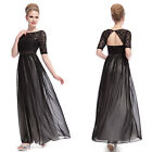 Ever Pretty 2014 Vintage Black Lace Maxi Party Evening Winter Formal Dress 09991