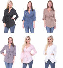 New Women Sexy Long Sleeve CaSuaL ToP BLoUsE BuTTon dOwN SHIRT S-L
