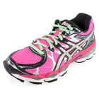 Asics Women`s Gel Nimbus 16 Running Shoes Hot Pink and Green