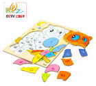 Wooden toy puzzle game baby learning gift Alphanumeric Digital letter animal 1pc
