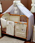BABY COT  NAPPY STACKER embroidered appliqu�s teddy bear and cloud in 5 COLOURS