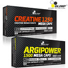 Creatine Monohydrate + Argipower 60-180 Caps. Nitric Oxide Pre-Workout Booster