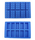 Lego Brick Ice Cube Silicone Mold Tray For Ice Jelly Dessert Candy Chocolate