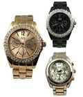 AN London Jewelled BLING Dial Crystal Face Ladies Wrist Watch & Gift Box