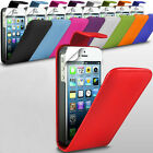 Various Mobile Phone PU Leather Top Flip Case Cover with Screen Protector