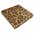 mr02t Puple Gold Brown Gold Green Damask Shimmer Velvet 3D Box Seat CushionCover