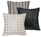 (Ms)6 Color Shimmer Velvet Checked Starlight Sequins Cushion Cover/Pillow Case