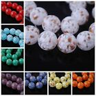 10 New Czech Glass Gold Foil Dot Round Necklace&Bracelet Finding Spacer Bead14mm