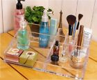 Chic Clear Jewellery Rack Makeup Organizer Case Storage Container Brush Holder W