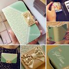 Cute Girl Bow Flip Wallet Leather Cover Case For Apple iPhone 4 4S 5 5S 5C