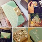 Cute Girl Bow Flip Wallet Leather Cover Case For Samsung Galaxy S3/S4/S5 Note2 3