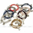 Women Jewelry Dangle Charm Crystal Glass Beads Bracelet Necklace Party Gift Cuff