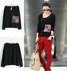 2014 Street Style Round Neck Pullover Tops Casual Batwing Sleeve Loose T-shirt